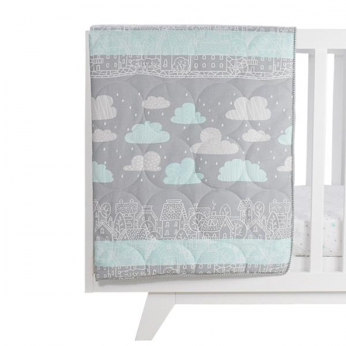 Lolli Living All Seasons Cot Quilt My City